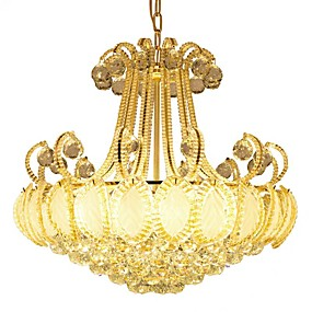 cheap Ceiling Lights & Fans-ZHISHU 8-Light 50 cm Crystal / LED Chandelier Metal Electroplated Vintage / Modern Contemporary / Traditional / Classic 110-120V / 220-240V