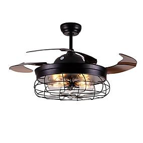 cheap Ceiling Fan Lights-1-Light QINGMING® 108 cm Mini Style / Tri-color Ceiling Fan Metal Mini Painted Finishes LED / Retro Vintage 110-120V / 220-240V