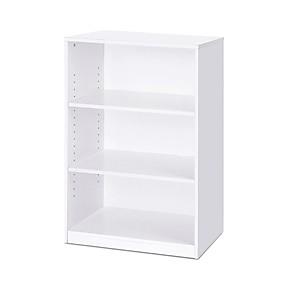 preiswerte Wohnzimmermöbel-modernes Bücherregal mit 3 Regalen in weißem Holz