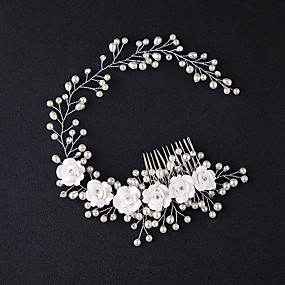 cheap Hair Accessories-Manual Hair Accessories Alloy Wigs Accessories Women's 1 pcs pcs N / A cm Party / Daily Wear / Outdoor Ordinary / Headpieces / Modern Contemporary Party / Easy to Carry / Women