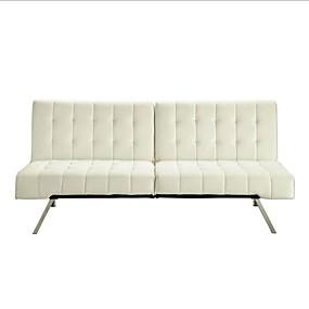 preiswerte Wohnzimmermöbel-Splitback Multi-Position Futon Schlafsofa in Vanille