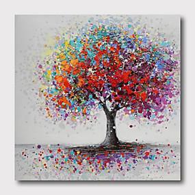 povoljno Najprodavanije-ručno oslikana rastegnut ulje na platnu platnu spreman objesiti apstraktni stil materijala visoke količine stabala zid umjetnosti moderna stabla ljubičasta