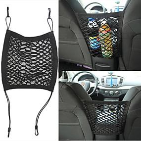 preiswerte Automobil-Universalsitz Doppel-Aufbewahrungsnetz Tasche Aufbewahrungstasche Aufbewahrungsnetz Abfallsack Auto-Zubehör Modifikationszubehör