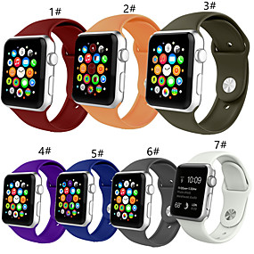 cheap Smartwatch Accessories-Smartwatch for Apple Watch Series 4/3/2/1 Apple Sport Band Soft Silicone Wrist Strap