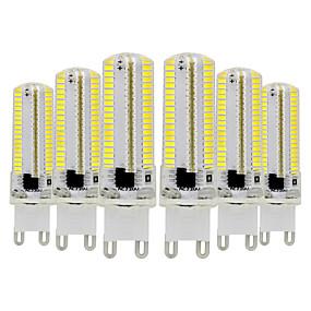 cheap LED Bi-pin Lights-6pcs 7 W LED Bi-pin Lights 600-700 lm G9 T 152 LED Beads SMD 3014 Dimmable Warm White Cold White 220-240 V 110-130 V