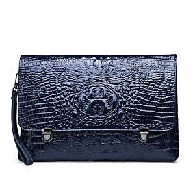 ราคาถูก Clutches-สำหรับผู้ชาย กระดุม / ซิป PU กระเป๋าถือ สีทึบ สีดำ / สีน้ำตาล / สีน้ำเงิน / ฤดูใบไม้ร่วง & ฤดูหนาว
