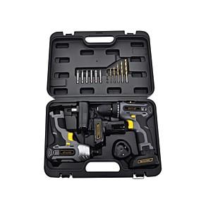cheap Tools-Cordless Drill Driver 20V & Impact Wrench 2 pcs for Dewalt SKIL Drill Bit Set