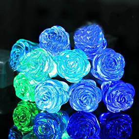 povoljno Svjetlosne trake i žice-1.5m Žice sa svjetlima 10 LED diode 1set Plavo Ukrasno AA baterije su pogonjene