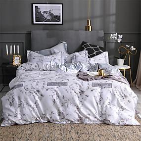 preiswerte Chinesische rote Bettbezüge-Bettbezug-Sets Solide / Geometrisch Polyester / Baumwolle Bedruckt 4 StückBedding Sets