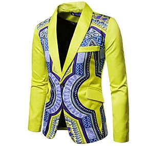 preiswerte The Wedding Store-- To Beautiful you-Narzisse / Traube / Dunkelgrün Mit Mustern Schlanke Passform Baumwolle Anzug - Schalrevers Einreiher - 1 Knopf