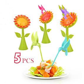 levne Příbory-Plastický Na běžné nošení Vidlička na ovoce, Vysoká kvalita 5pcs