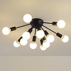 povoljno Lámpatestek-JSGYlights Klastera Flush Svjetla Ambient Light Slikano završi Metal New Design 110-120V / 220-240V