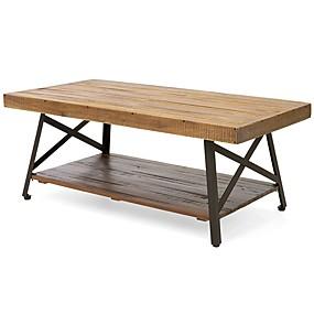 preiswerte Couchtische-moderner klassischer industrieller Chic holte Holz- und Metallcouchtisch zurück