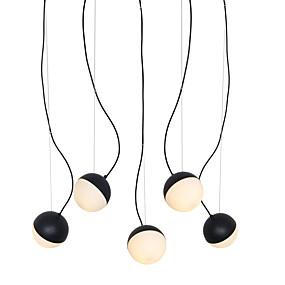 povoljno Lámpatestek-5 svjetiljke svjetlo privjesak svjetlo / staklo lampa DIY za dnevnu sobu blagovaonica shop soba caffe bar crno obojano / 110-120v / 220-240v / e12 / e14 bez žarulja / a / b model dostupan