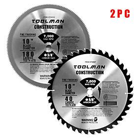 preiswerte Werkzeuge-Kreissägeblatt 10 5/8 40t&Ampere; 180t 2 Stk. Für Dewalt&Ampere; Makita Tisch Hartmetall