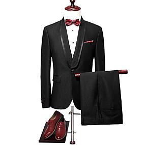 preiswerte The Wedding Store-- To Beautiful you-Smoking Weite Passform Schalrevers Einreiher - 1 Knopf Polyester