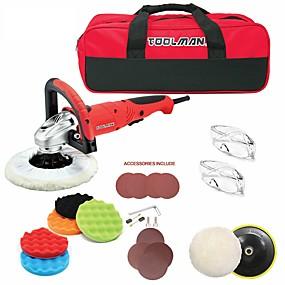 preiswerte Elektrowerkzeuge-toolman 22pcs elektrische Polierschleifmaschine 7 7,5 A mit Klettverschluss