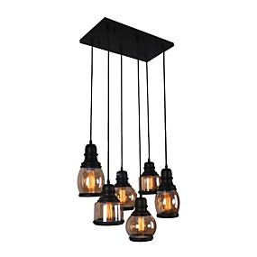 cheap Lantern Design-BriLight 6-Light 40 cm Creative Pendant Light Glass Glass Island Painted Finishes Retro / Traditional / Classic 110-120V / 220-240V