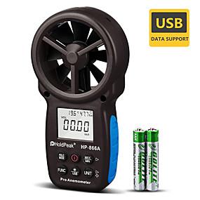 levne Super Sleva-holdpeak hp-866a přenosný větrný objem vzduchu měřič anemometr usb / kapesní počítač s funkcí data logger a taška 866a