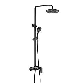 preiswerte Neu Eingetroffen-Duscharmaturen - Moderne mehrlagig Wandmontage Keramisches Ventil Bath Shower Mixer Taps / Messing