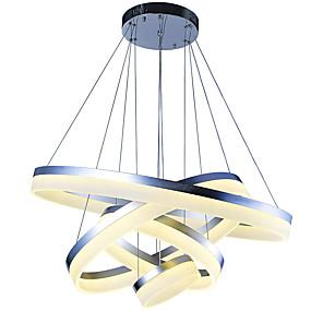 povoljno Lámpatestek-VALLKIN 4-Light Cirkularno / Geometrijski / Noviteti Privjesak Svjetla Ambient Light Slikano završi Metal Acrylic Kreativan, Prilagodljiv, Zatamnjen 110-120V / 220-240V Zatamnjen daljinskim