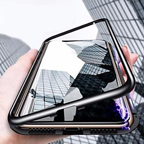 cheap Phones & Accessories-Case For Apple iPhone XS / iPhone XR / iPhone XS Max Shockproof / Ultra-thin / Transparent Full Body Cases Solid Colored Hard Tempered Glass