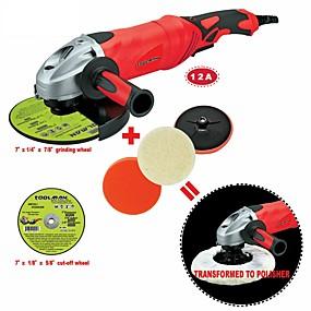 preiswerte Elektrowerkzeuge-toolman 6pcs winkelschleifer 7 12a 6 variable geschwindigkeit&Ampere; Trennscheibe Schleifscheibe