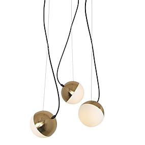 povoljno Lámpatestek-3 svjetla svjetlo privjesak svjetlo / staklo lampa DIY za dnevnu sobu blagovaonica shop soba kafić zlato galvanizacija / 110-120v / 220-240v / e12 / e14 bez žarulja / a / b model dostupan