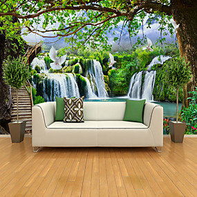 cheap Discount Collection-Landscape tree Big Bird Illustration Suitable for TV Background Wall Wallpaper Murals Living Room Cafe Restaurant Bedroom Office XXXL(448*280cm)