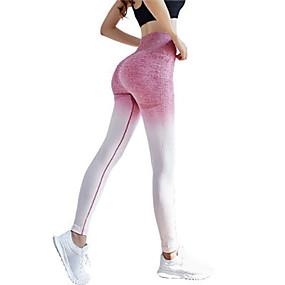 cheap Yoga & Fitness-Women's High Rise Yoga Pants Fashion Spandex Running Dance Fitness Tights Leggings Bottoms Activewear Moisture Wicking Butt Lift Tummy Control Power Flex High Elasticity Skinny