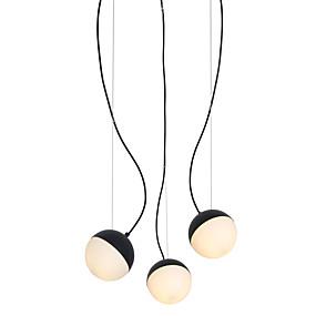 povoljno Lámpatestek-3 svjetla svjetlo privjesak svjetlo / staklo lampa DIY za dnevnu sobu blagovaonica shop soba caffe bar crno obojano / 110-120v / 220-240v / e12 / e14 bez žarulja / a / b model dostupan