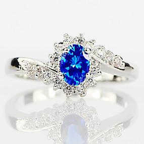 povoljno Nakit za vjenčanje i izlaske-Žene Prsten Kubični Zirconia 1pc Pink Svjetloplav Svijetlo zelena Legura Cirkularno pomodan Elegantno Vjenčanje Jewelry Slatko