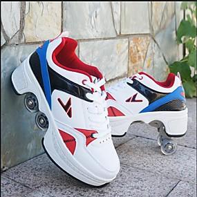 preiswerte Schuhe für Kinder-Jungen / Mädchen Komfort PU Sneakers Kleine Kinder (4-7 Jahre) / Große Kinder (ab 7 Jahren) Rot / Weiß / Blau / Weiß / Silber Frühling / Herbst