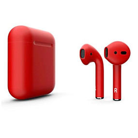 cheap Headphones & Earphones-LITBest New i12 Blackpods Redpods TWS True Wireless Earbuds Matt Skin Bluetooth 5.0 Headphone Pop Up for iOS with Microphone Hands Free Touch Control Earphone