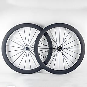 preiswerte Sport & Outdoor-700CC Radsätzen Radsport 23 mm Rennrad Vollcarbon Röhrenförmig F:20 R:24 Speichen 50 mm