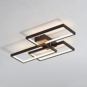 preiswerte Heim-52w geometrischen modernen Stil Drei-Rahmen-Kombination führte Deckenleuchte Unterputz Wohnzimmer Schlafzimmer Esszimmer Lampe