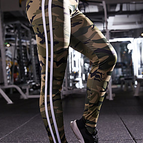 cheap Yoga & Fitness-Women's High Rise Yoga Pants Fashion Elastane Running Dance Fitness Tights Leggings Bottoms Activewear Moisture Wicking Butt Lift Tummy Control Power Flex High Elasticity Skinny