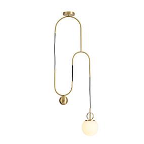 povoljno Viseća rasvjeta-Noviteti Privjesak Svjetla Ambient Light Antique Brass Metal Glass New Design 110-120V / 220-240V Meleg fehér / Bijela