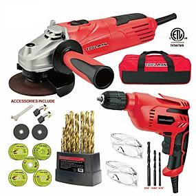 preiswerte Elektrowerkzeuge-toolman 44pcs elektrischer Winkelschleifer Scheibenschleifer 4-1 / 2 4,8 Ampere&Ampere; abgeschnitten