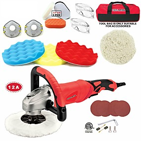 cheap Tools-Toolman 22pcs Electric Polisher Sander Paint Care Tool 7 12A Amps with Hook and