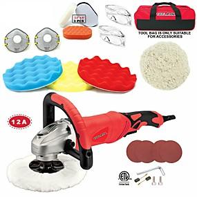 preiswerte Elektrowerkzeuge-toolman 22pcs elektrische Poliererschleifmaschine Lackpflegewerkzeug 7 12a Ampere mit Haken und