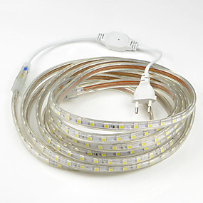 preiswerte Up To 80% Off For Lamps & Lights-15m Flexible LED-Leuchtstreifen 900SMD LEDs 5050 SMD Warmes Weiß / Weiß / Rot Wasserfest / Schneidbar / Party 220-240 V