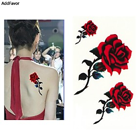 cheap Temporary Tattoos-10 pcs Temporary Tattoos Water Resistant / Best Quality Hand / brachium / Shoulder Tattoo Stickers
