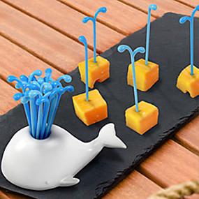levne Příbory-Plastický Na běžné nošení Vidlička na ovoce, Vysoká kvalita 16ks