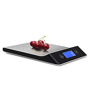 billige Elektrisk utstyr og verktøy-5g-10kg digital skala matlagingsverktøy verktøy rustfritt stål elektronisk vektskala LCD-skjerm kjøkkenskala
