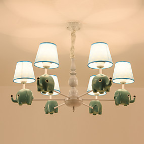 billige Forbedringer til hjemmet-6 lys lysekrone / moderne naturlige anheng lys for soverom stue barn rom 110-120v / 220-240v / e26 e27 uten pære nydelig søte lys