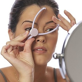cheap Shaving & Grooming-Women Plastic Cotton Facial Hair Remover Face Spring Threading Epilator Defeatherer DIY Makeup Cosmetic Tool