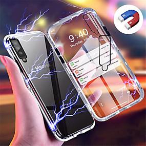 povoljno Maske za mobitele-Θήκη Za Samsung Galaxy Galaxy A7(2018) / Galaxy A30 (2019) / Galaxy A50 (2019) S magnetom Stražnja maska Jednobojni Tvrdo Kaljeno staklo