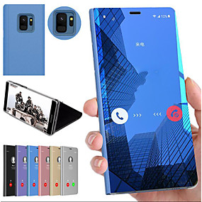 cheap Samsung Case-Case For Samsung Galaxy Note 9 / Note 8 / Note 5 Edge Shockproof / with Stand / Mirror Back Cover Solid Colored Hard PC