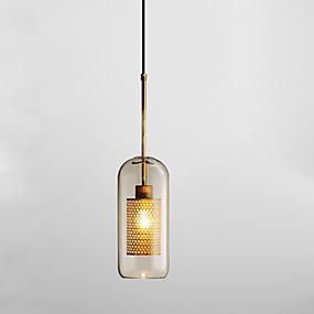 povoljno Lámpatestek-Cilindar Privjesak Svjetla Ambient Light Electroplated Glass Glass New Design 110-120V / 220-240V